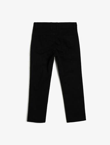 Koton Kids Cep Detayli Pantolon Siyah